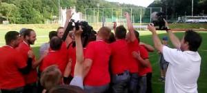 Vysočina Gladiators slaví zisk Iron Bowlu