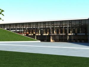 Návrh krajské knihovny v Havlíčkově Brodě