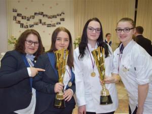 Tým vítězných studentek z Třebíče