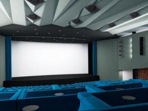 Studie interiéru kina ve Žďáru nad Sázavou