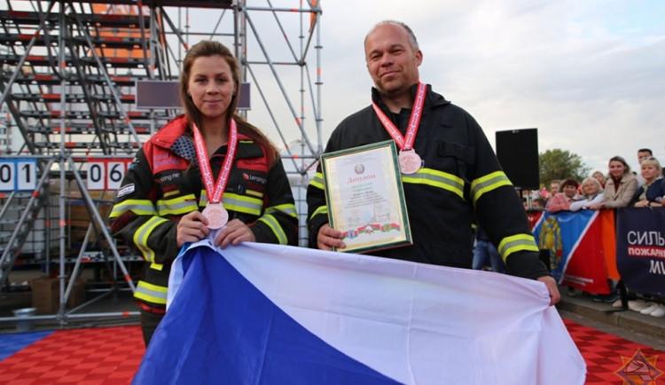 Jihlavský hasič Viliam Klein získal dvě medaile na mezinárodních závodech v Bělorusku