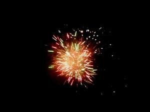 Novoroční ohňostroj v Cejli na Jihlavsku
