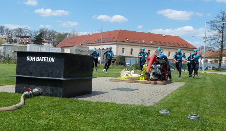 Dobrovolní hasiči - okrsková soutěž v Batelově, 7.5.2016