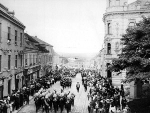 Průvod v roce 1914