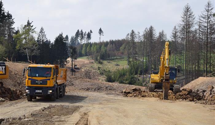 Stavba obchvatu Velkého Beranova, duben 2019