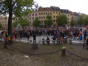 Demonstrace na jihlavském Masarykově náměstí - nezávislost justice