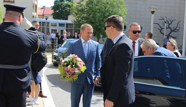 Prezident Miloš Zeman na Vysočině