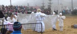 Živý betlém v Měříně, narození Ježíška